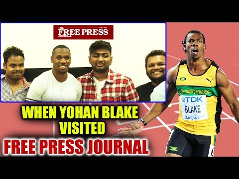 When Yohan Blake Visited Free Press Journal