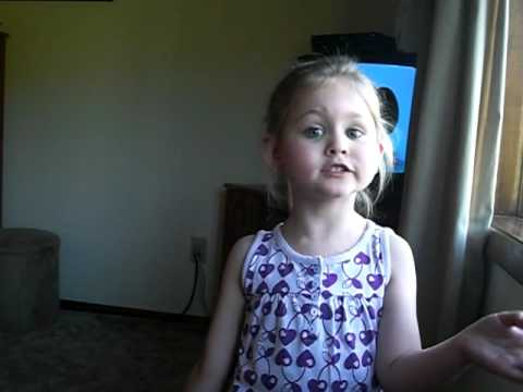 4 year old singing to Muse  Supermassive Black Hole  learned from Twilight FUNNY!