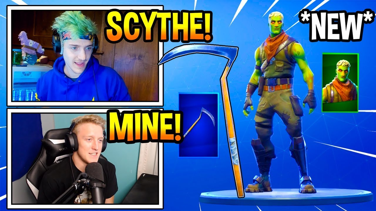 streamers-react-to-new-brainiac-skin-og-scythe-pickaxe-returned-fortnite-moments