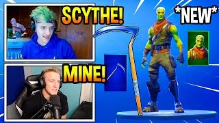 Streamers React To *NEW* Brainiac Skin & OG SCYTHE Pickaxe Returned! Fortnite Moments