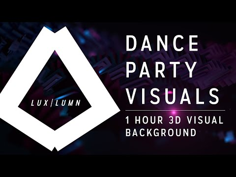 1 Hour Dance Party Background Visuals Mix | LUX | LUMN | Phasis VJ Video Loop Pack