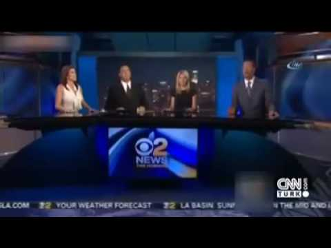California earthquake live on television