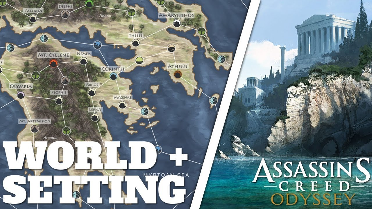 Assassin S Creed Odyssey Open World Map Size Setting Regions Info