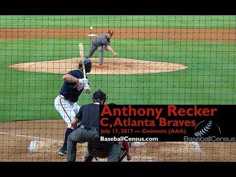 Anthony Recker, C, Atlanta Braves — July 17, 2017