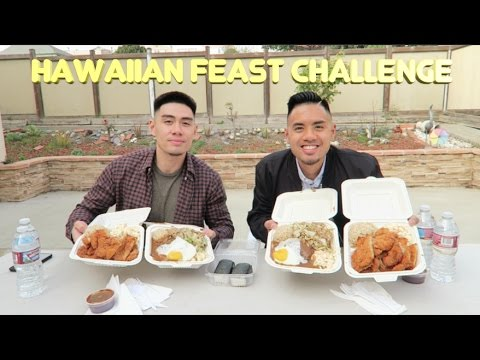 MASSIVE HAWAIIAN FEAST CHALLENGE (Ft. Anthony Mendoza) | HAWAIIAN CUISINE