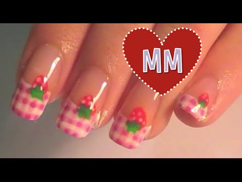 Strawberry Pink Gingham Nail Tutorial