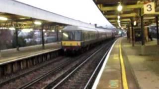 37706 with a Class 108 and Pullman coach passes Brockenhurst 20/1/10