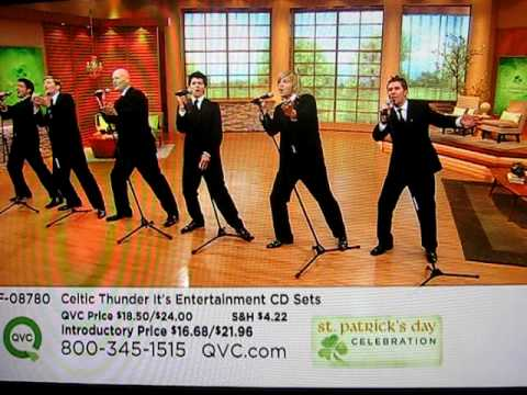 Celtic Thunder Performs on QVC - Still Haven't Found What I'm Looking For & Amazing Grace.AVI
