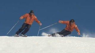 ★Карвинг Лыжи★ Урок 25 Динамические повороты в карвинге на горных лыжах