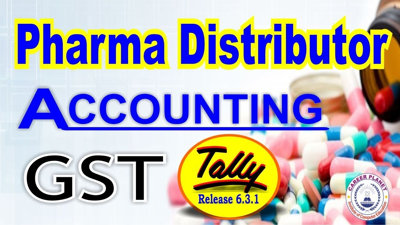 Tally ERP 9 GST- Pharma Distributor Accounting, Medical Store Accounting  Part-76