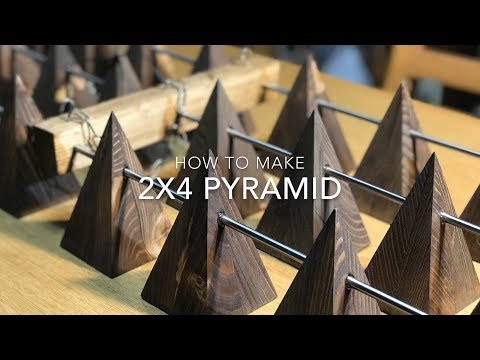 How to Make 2x4 Pyramid - Pyramid Jig for Table Saw