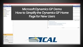 How to Simplify the Dynamics GP Home Page for New Users