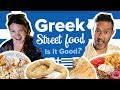 Eating Greek Street Food in Thessaloniki Greece