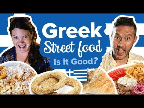 Eating Greek Street Food in Thessaloniki Greece 😋