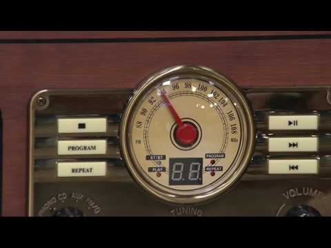 Victrola Classic 6-in-1 Wooden Turntable with Bluetooth on QVC
