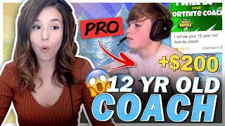 Download I Hired a 12 YEAR OLD Fortnite Pro from Fiverr to Carry Me! Pokimane Mp3 and Videos
