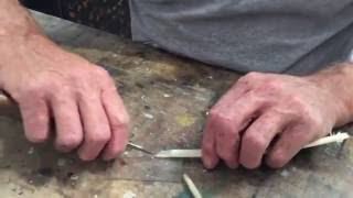 How to cut a quill pen