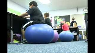 Stability balls impact students' health, performance in classroom