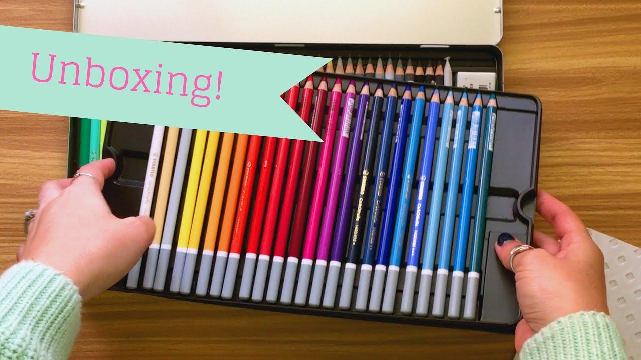 Unboxing Stabilo CarbOthello Chalk Pastel Pencils 60 Tin ...