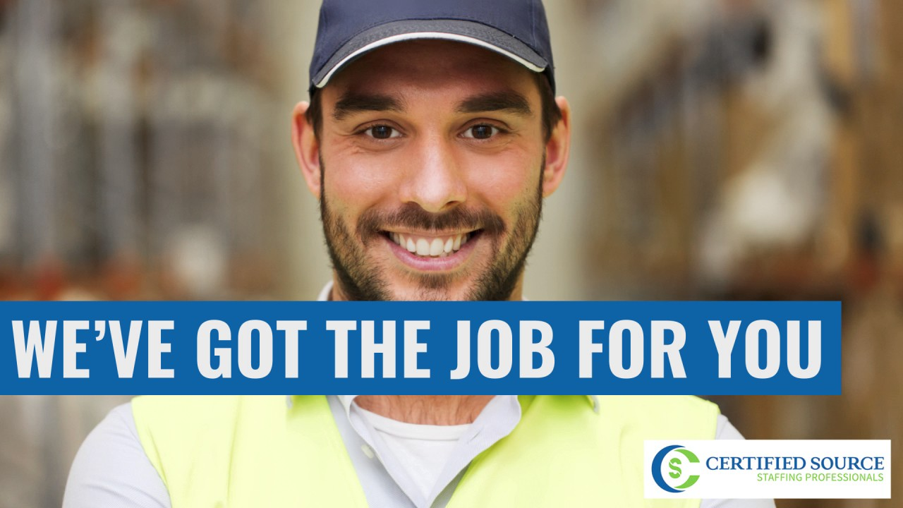Warehouse Jobs In Okc >> Oklahoma City Warehouse Jobs Certified Source Staffing Professionals