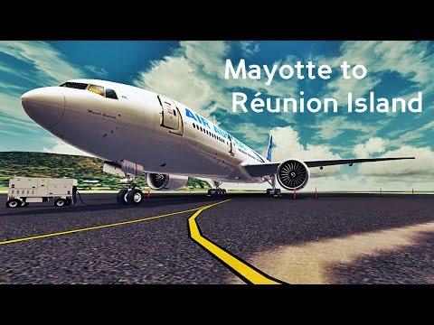 Flight Movie   TERMINAL│ AIR AUSTRAL F-ORLA B777-200LR (Mayotte ➔ Réunion)