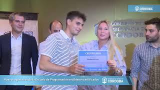 Nuevos egresados de la Escuela de Programación recibieron certificados