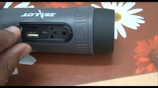 Zealot S1 4 in1 Portable Bluetooth Speaker FM Radio amp 4000mAh Battery Feature and Quick Review
