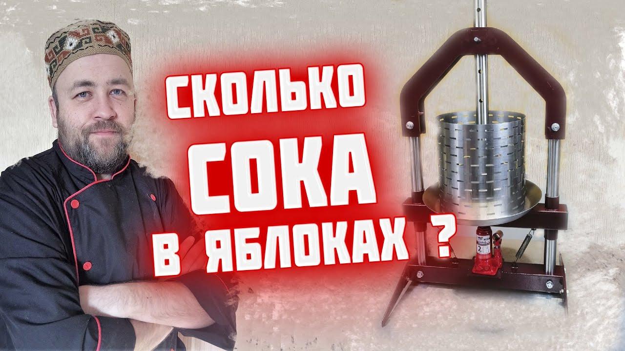 Сколько СОКа в килограмме ЯБЛОК ? Яблочный сок в зиму Пресс Добрыня от компании Домашний Заготовщик