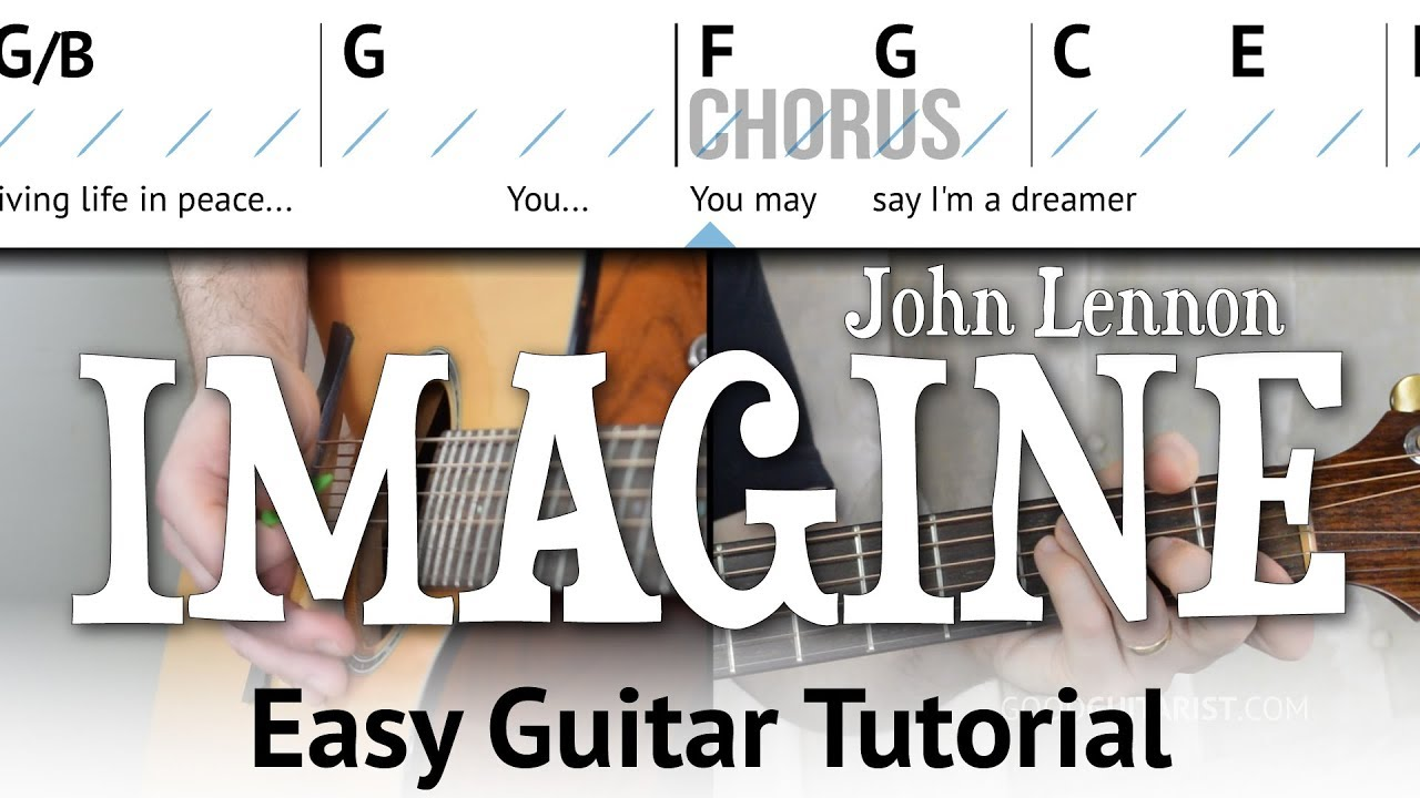 Imagine Easy Guitar Tutorial John Lennon Simple Chords