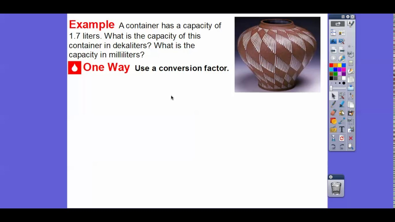 Convert Units of Capacity - Lesson 6.2 - YouTube