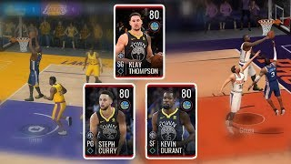 Full GSW Lineup Gameplay - Insane Blocks Footage - Nba Live Mobile 19