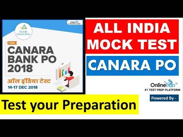 ALL INDIA MOCK TEST for CANARA BANK Started || And  Quantitative SOLUTION of Remaining SECTION )