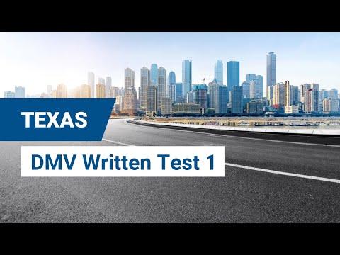 2020 Texas DMV Written Test #1