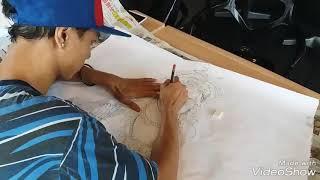 Speed Drawing of Lord Muruga