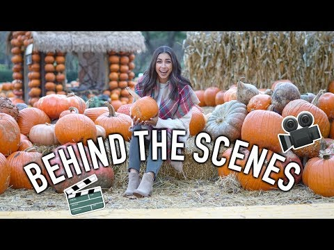 Behind The Scenes of Filming My Epic Fall Video!