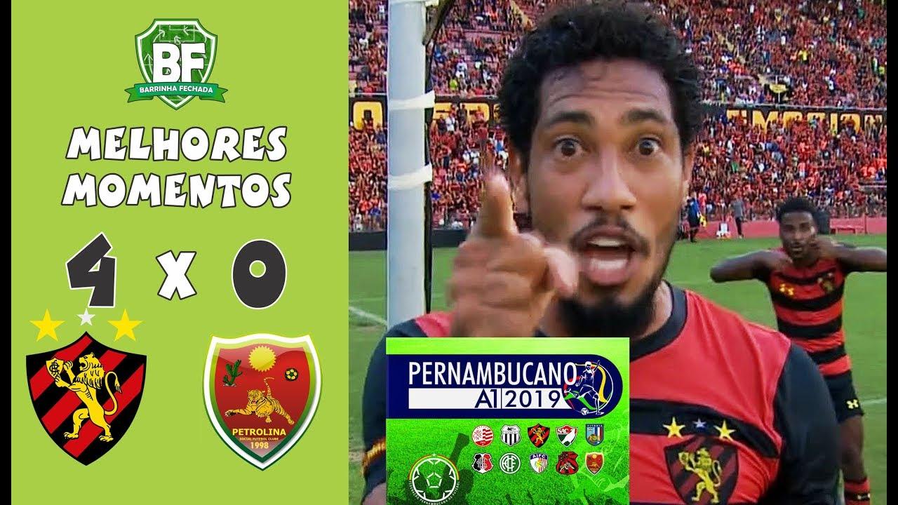 Sport 4 x 0 Petrolina - (MELHORES MOMENTOS) - Campeonato Pernambucano - 2019 | Barrinha Fechada