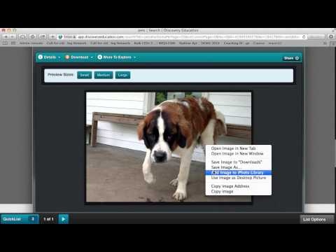 Image Search Using Discovery Education