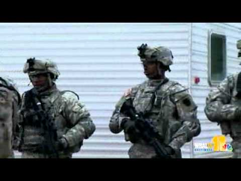 Md. National Guard Members Prep For Egypt Deployment - YouTube