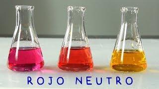 Rojo Neutro. Indicador de pH en Zona Neutra.