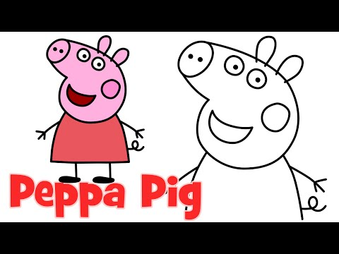 How to draw Peppa Pig characters step by step easy drawing for kids ...