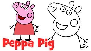 pig easy drawing peppa step drawings characters beginners pigs draw cartoons disney cartoon crab toddlers elsa getdrawings clipartmag castle frozen