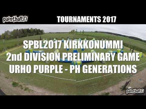 Urho purple vs PH Generations - SPBL2017 Kirkkonummi