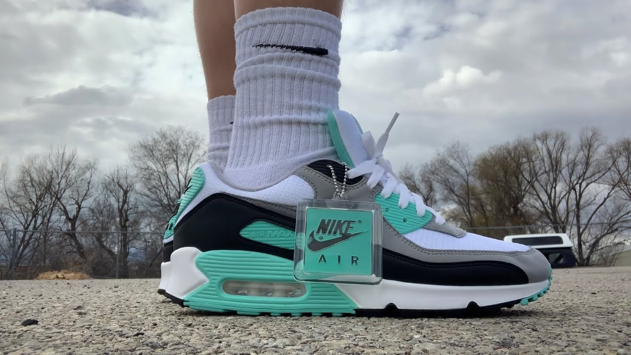 """NIKE AIR MAX 90 OG """"TURQUOISE"""" REVIEW & ON FEET!!"""