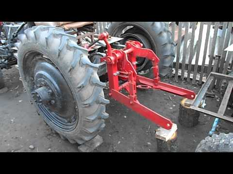 Самодельный кран подъемник на трактор ЮМЗ 6КЛ - YouTube