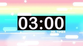 3 Minute Timer with Music for Kids! Countdown Videos HD!