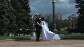 Романтическая свадьба, прогулка в парке Щербакова
