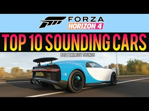Forza Horizon 4 - TOP 10 BEST CAR SOUNDS! Exhaust Sounds, Tunnel Pops & Bangs thumbnail