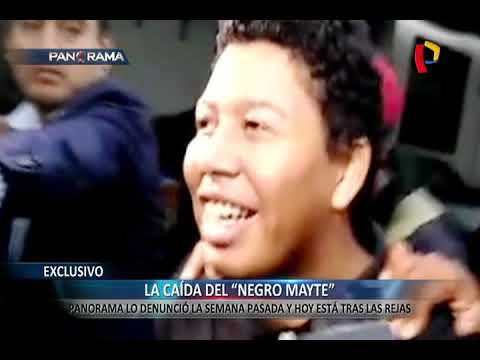 EXCLUSIVO | 'Negro Mayte' detenido: Panorama lo denunció y hoy está tras las rejas