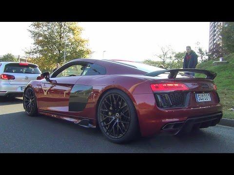 Audi R8 V10 Plus - Stock / MHP / Capristo - LOUD Revs and Accelerations