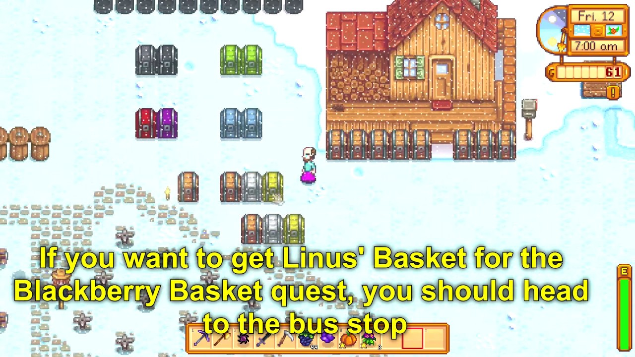 Where Is Linus Basket For Blackberry Basket Quest Stardew Valley 1 4 Youtube Once you get there make sure you get on the paved road. where is linus basket for blackberry basket quest stardew valley 1 4